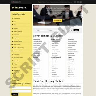 Yellow Pages PHP Script Local Business Directory Script Online